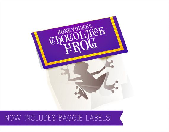 Chocolate Frog Box Template Includes Matching Sign by Printyca ...