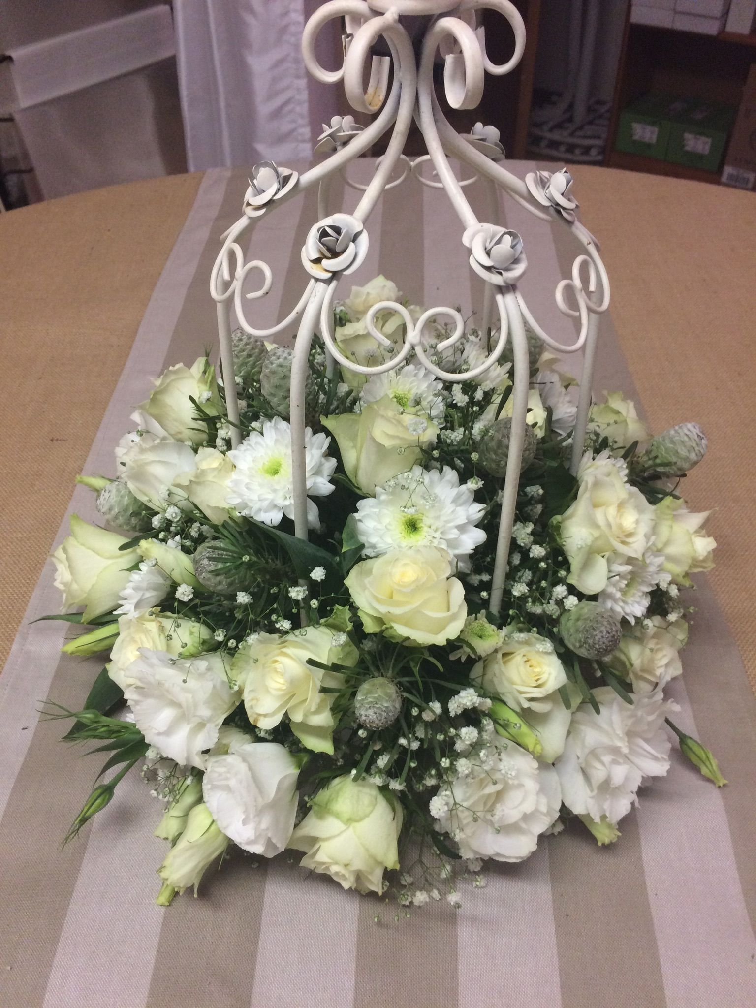 Centerpiece In Cage Centerpieces For Weddings And Functions