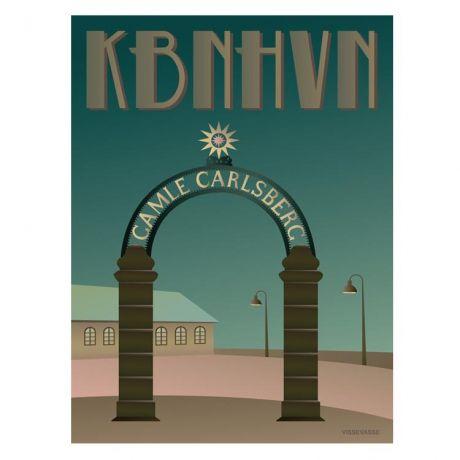 Kob Vissevasse Plakat Kbnhvn Stjerneporten Hos Designfund Plakater Danmark Grafisk Illustration