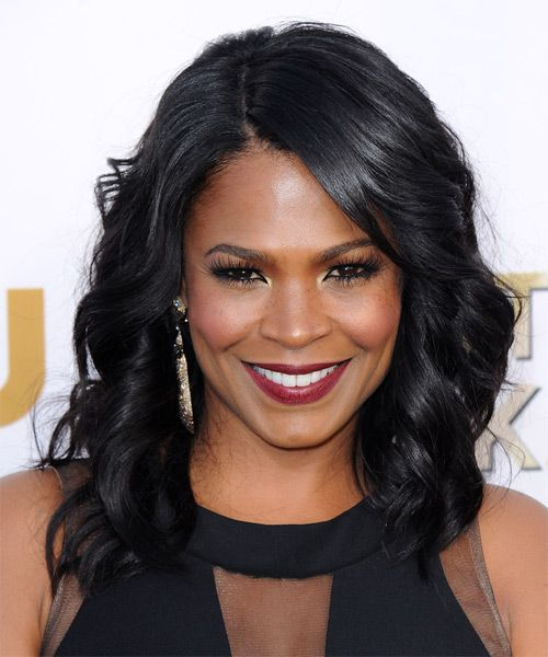 Nia Long Hairstyle Formal Medium Wavy Click On The Image To Try On This Hairstyle A Braids For Medium Length Hair Long Hair Styles Medium Length Hair Styles