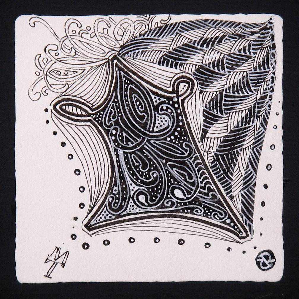 Artwork by maria thomas and rick roberts zentangle