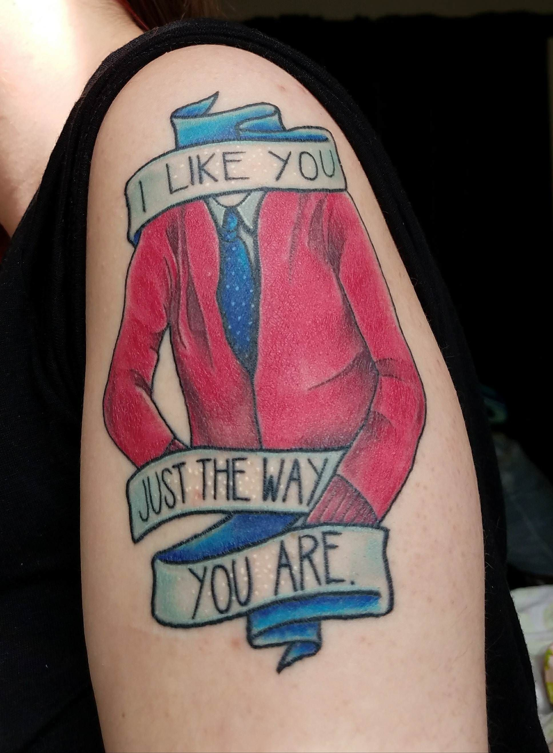 I Like You Just The Way You Are Mister Rogers Tribute Done By Jordanne Le Fae At A Dead Anchor In Madiso True Tattoo Inspirational Tattoos Wisconsin Tattoos