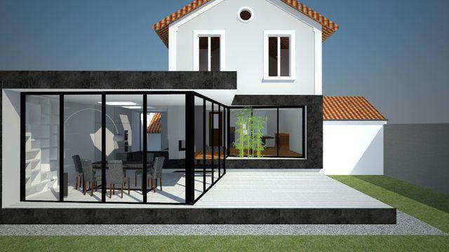 Construire une extension  les 6 règles à connaître Extensions and - maison avec toit en verre