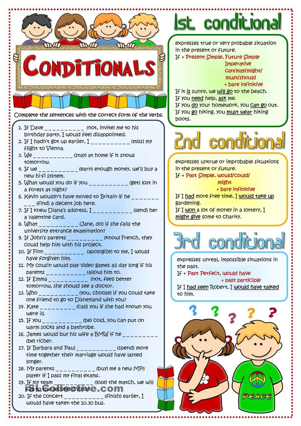 how to use conditional when i talk inglish
