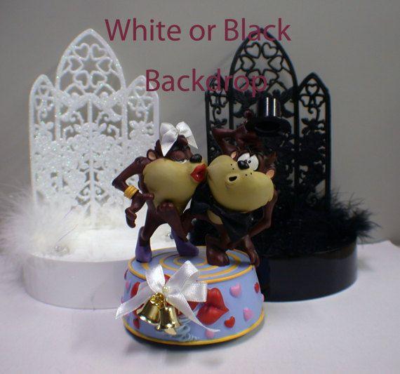 TASMANIAN Devil TAZ wedding Cake topper Groom by YourCakeTopper