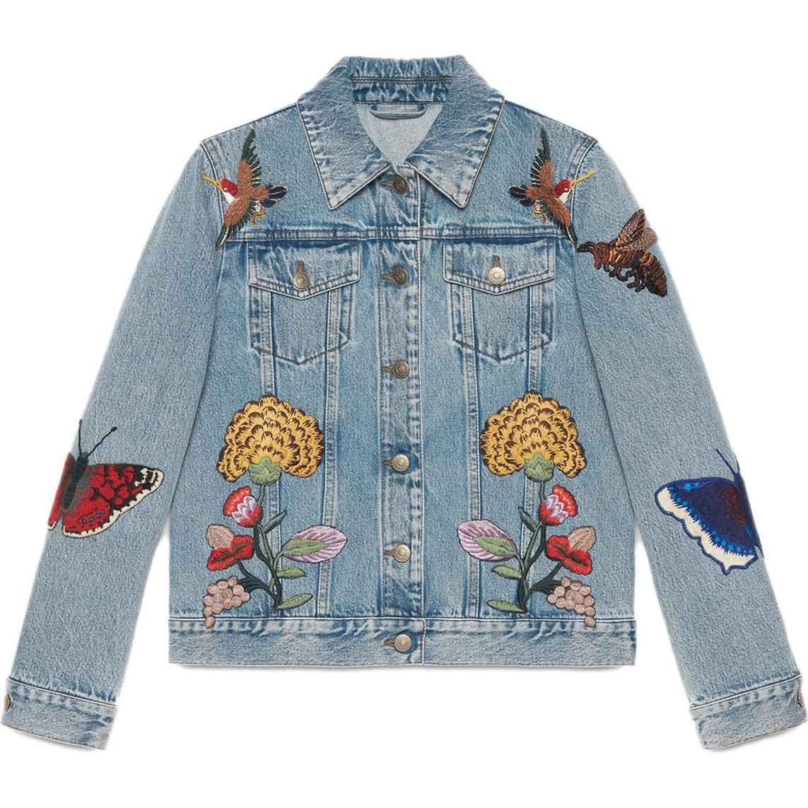 Gucci Embroidered Denim Jacket as seen on Beyonce Knowles