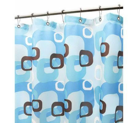 Watershed 2 In 1 Geo Squares 72x72 Shower Curtain Qvc Com 24