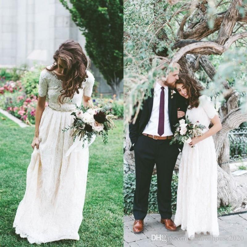 Bohemian Boho Beach Wedding Dress Bridal Gowns Country A-line Long Custom Size