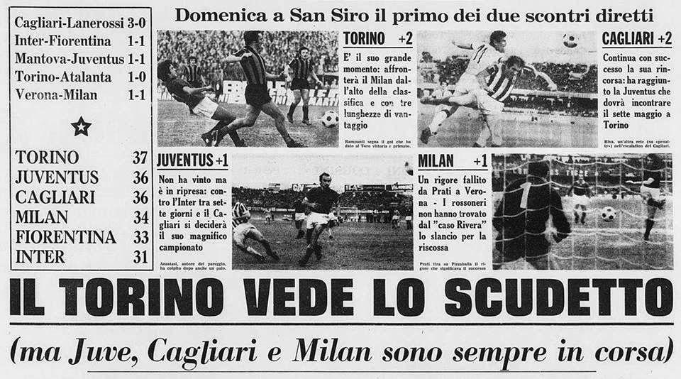 SCRIVOQUANDOVOGLIO: CALCIO SERIE A:26°GIORNATA (16/04/1972)