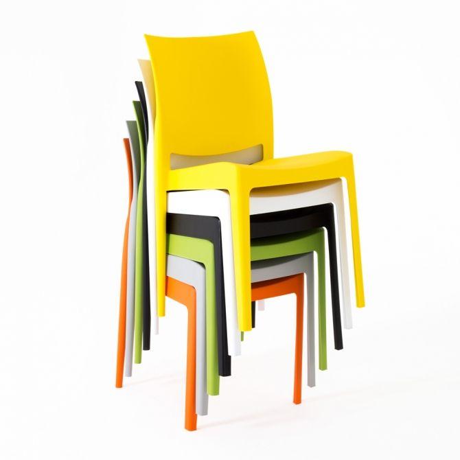 les diff rents coloris de la chaise ipsy jaune blanc noir vert gris et orange un mod le. Black Bedroom Furniture Sets. Home Design Ideas