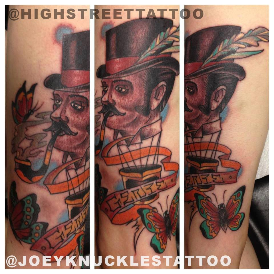 Joeyknucklestattoo Knucklesknowshow Tattoo Columbusartist Ohiotattooshops 614 Highstreettattoo Shortnorth Oh Street Tattoo Ohio Tattoo Portrait Tattoo