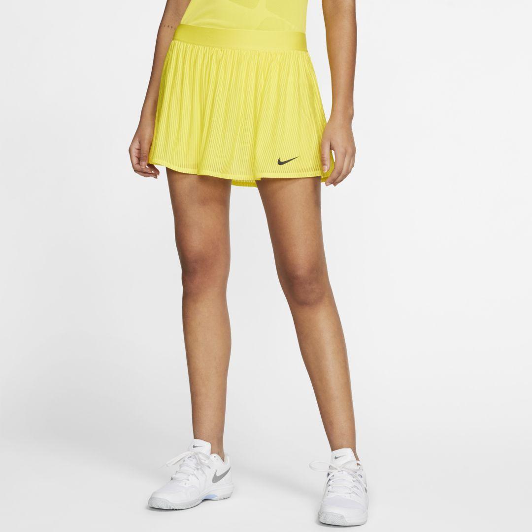 Nike Maria Women S Tennis Skirt Opti Yellow Womens Tennis Skirts Tennis Skirt Womens Tennis