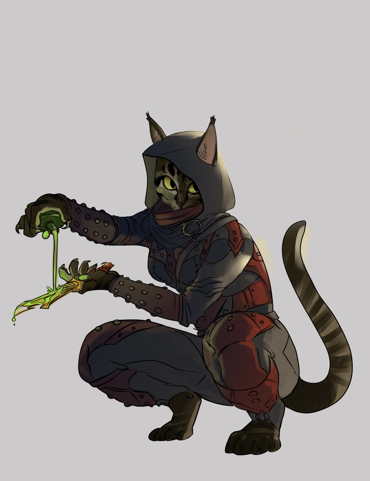 skyrim | Tumblr Khajit Assassin with Poisoned Dagger | Geek