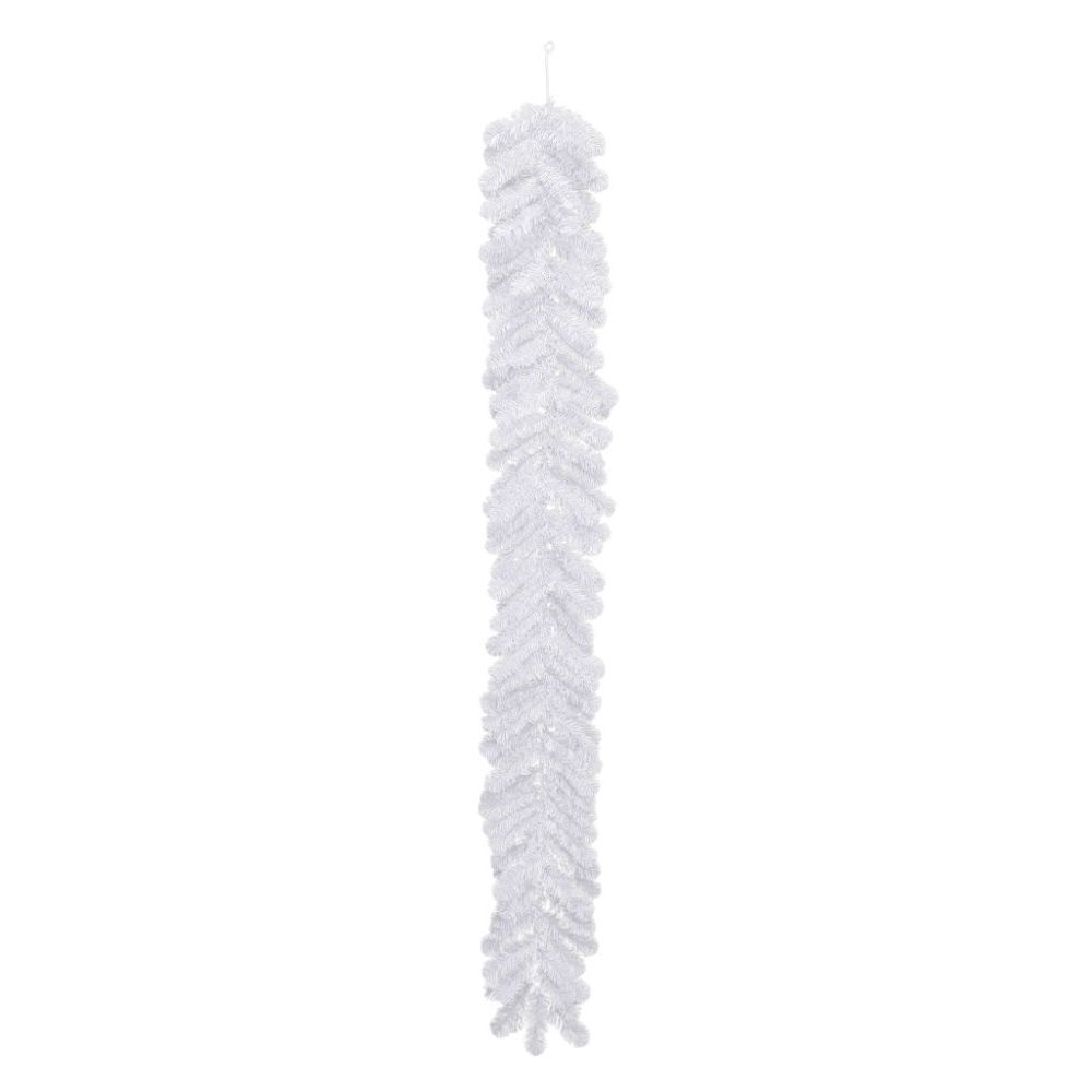 Shop for the Polygroup White Garland, 6 ft. at Michaels