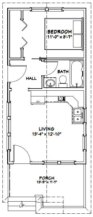 14x28 tiny house 14x28h1m 391 sq ft excellent on best tiny house plan design ideas id=25721