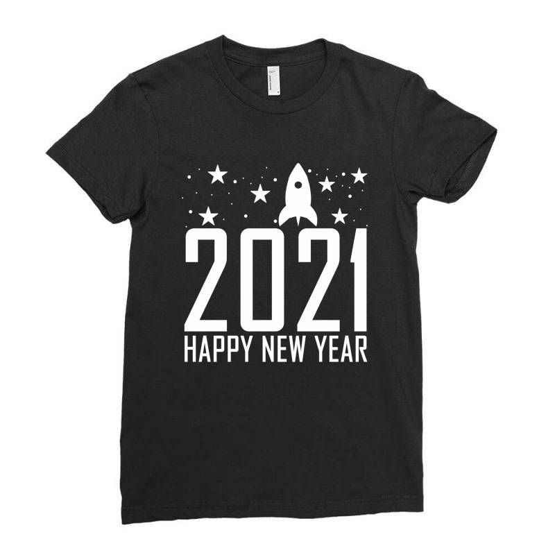 happy new year 2021 gifts Ladies Fitted T-Shirt Th