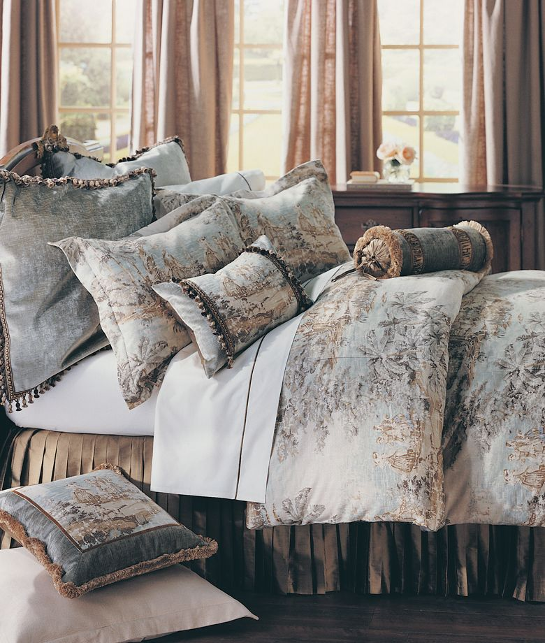 Bedroom Decorating Ideas Totally Toile: Bosporus- Master Bedroom Bedding By Legacy Home- Love The