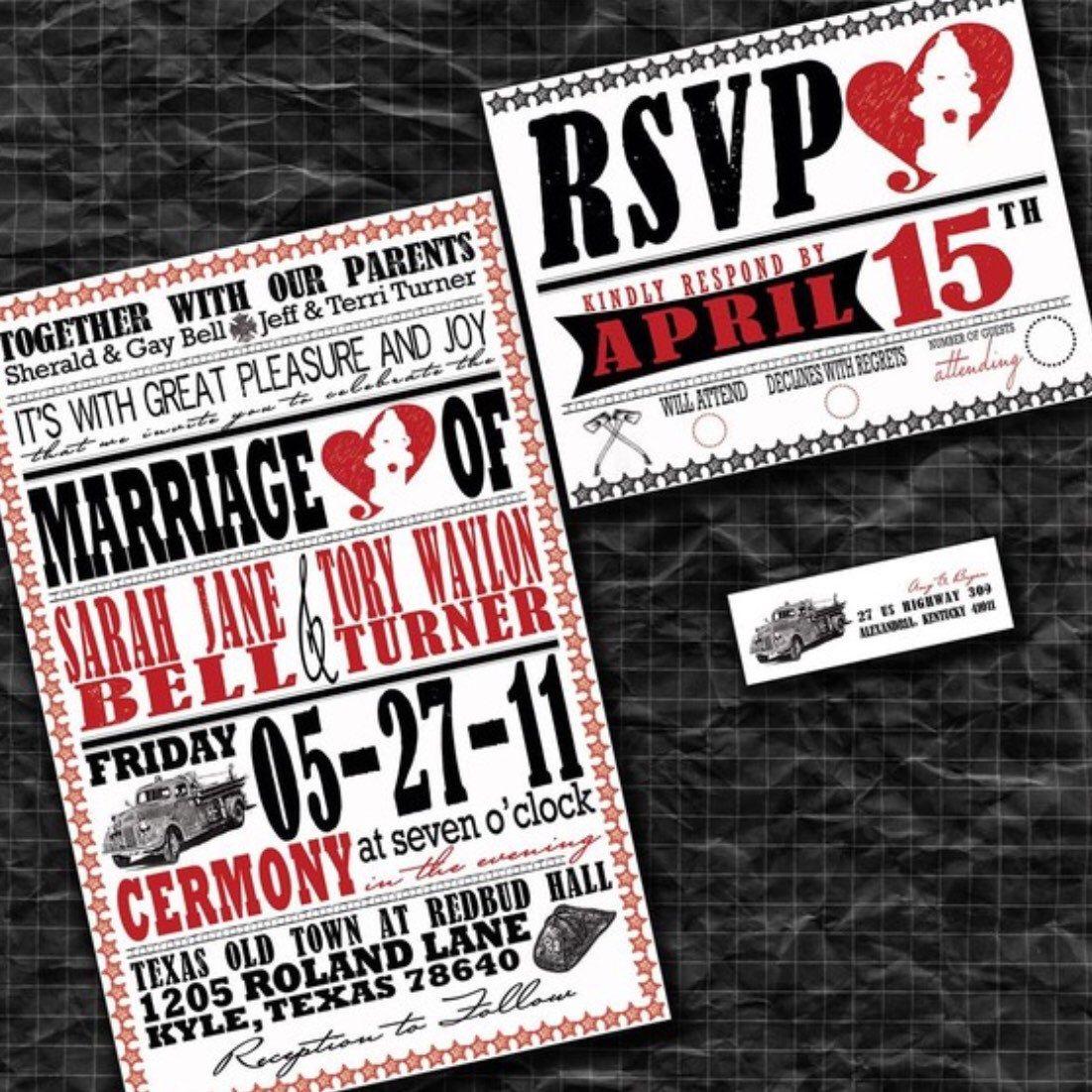 Firefighter Wedding Invitations | Fireman Wedding Invite Set ...