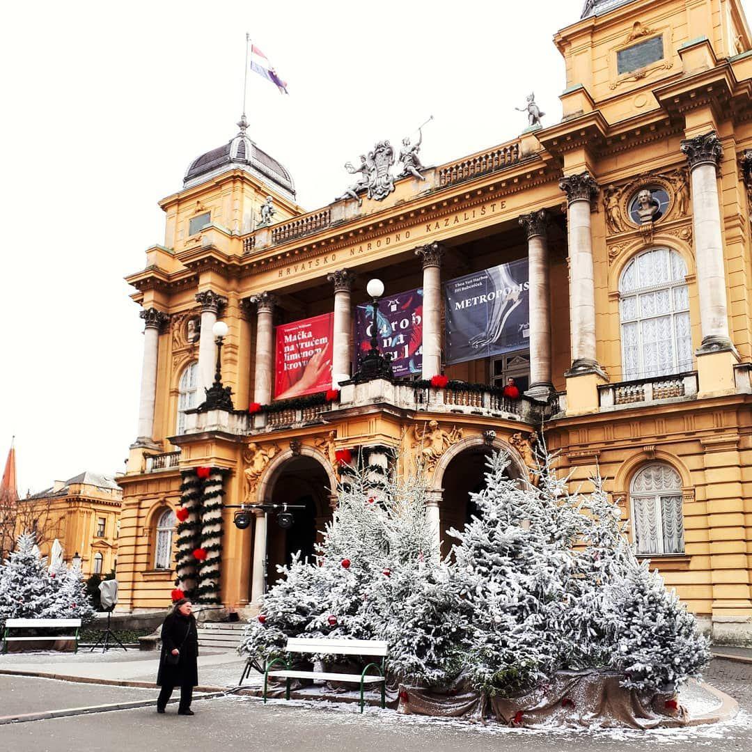 Croatian National Theatere In December Croatia Big Ben Instagram