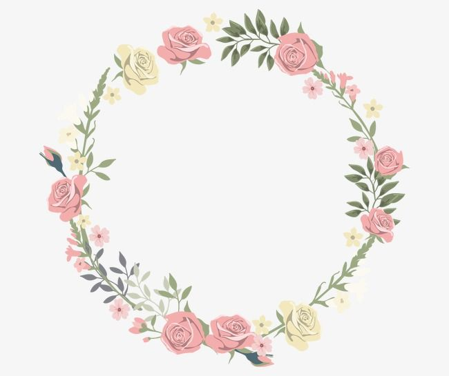 Rose Decorative Circular Border Rose Clipart Rose Round Png Transparent Clipart Image And Psd File For Free Download Rose Clipart Flower Frame Flower Border