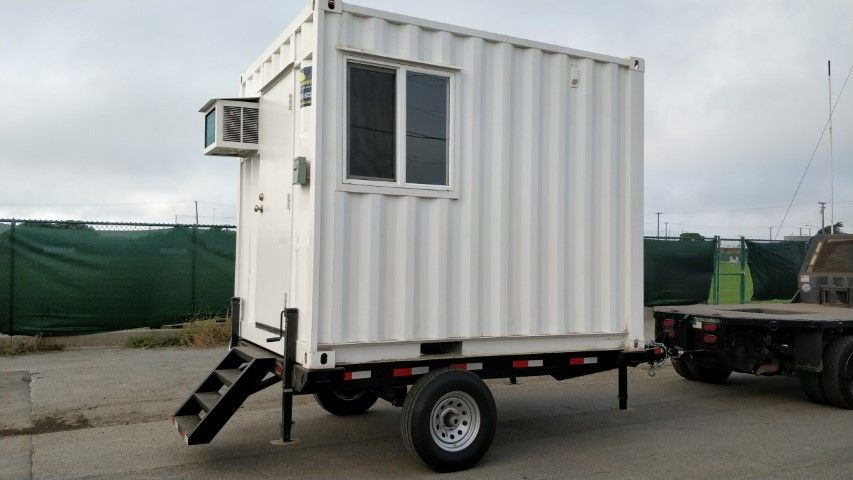 10 Office Container With Trailer For Sale Trailers For Sale Comfortable Workspace Built In Desk