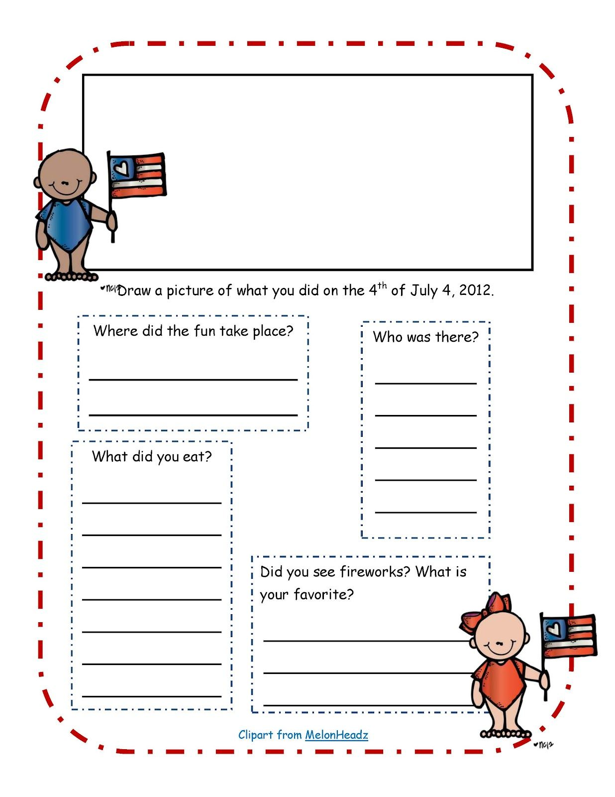 Free 4th Of July Writing Exercise