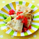 So easy and so good!  Ranch Baked Quesadillas