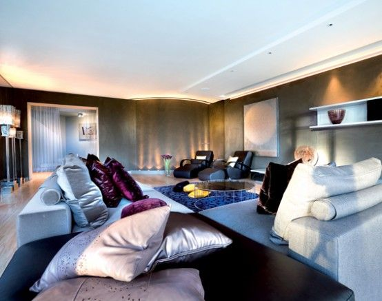 Modern glamorous living room Perfect for my bachelorette pad