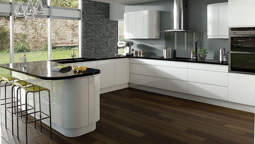 Oval kitchen making house home for White gloss kitchen designs