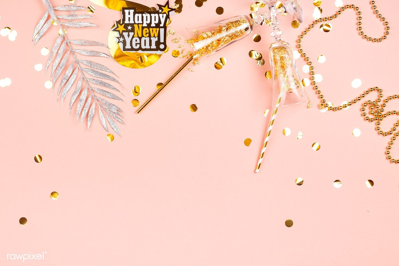 Download premium photo of Glamorous pink Happy New Year
