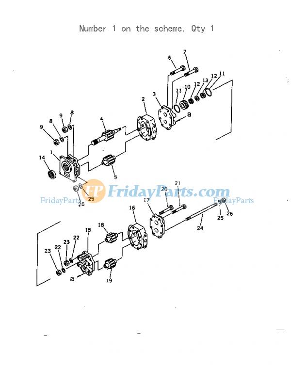 For Komatsu Bulldozer D60A-11 D60A-8 D60E-8 D60F-8 D60P-11