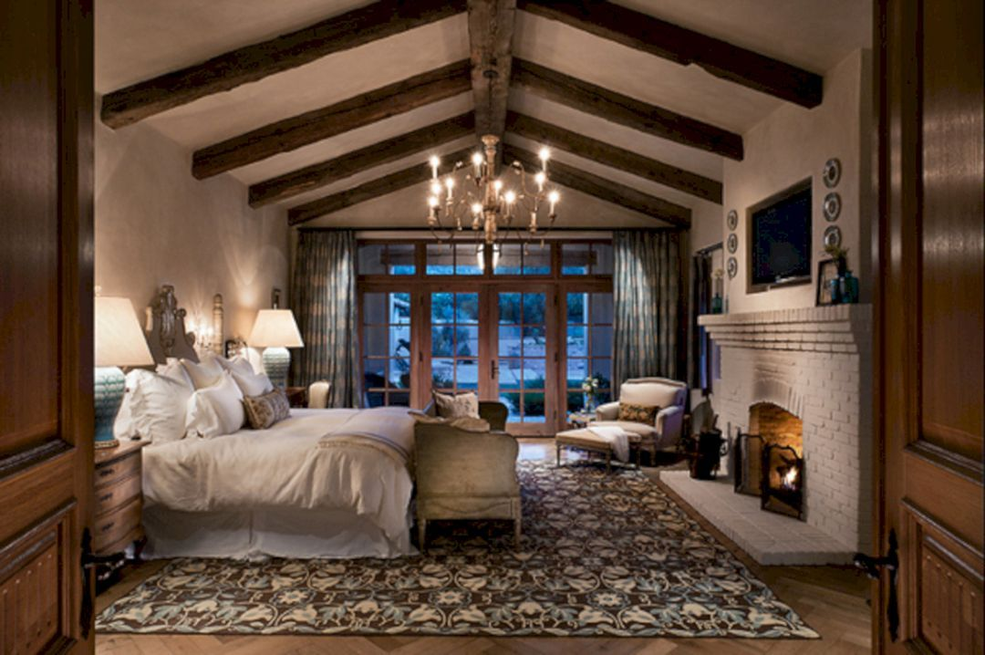 50 Incredible Cozy And Romantic Bedroom Fireplaces For Your Home Freshouz Com Master Bedroom Decor Romantic Luxurious Bedrooms Rustic Master Bedroom
