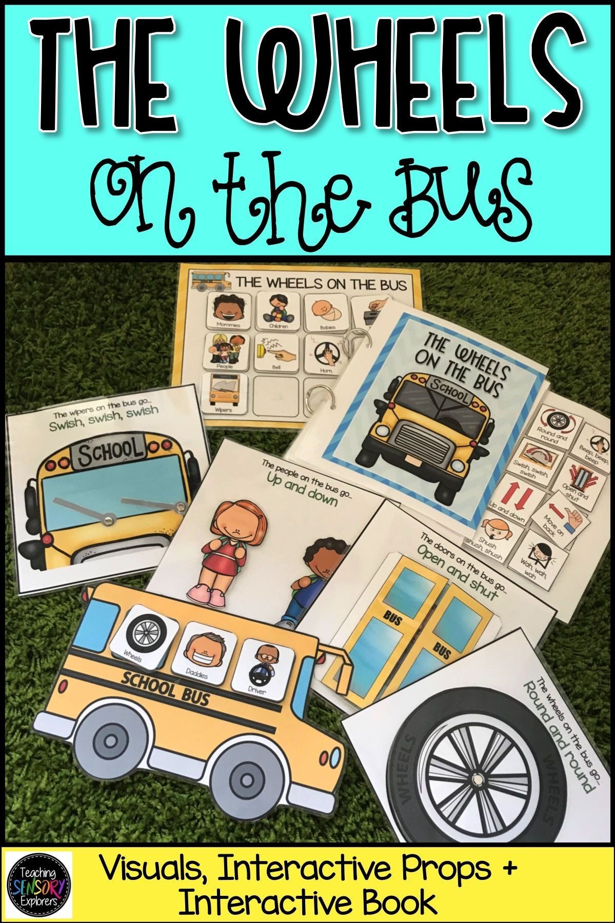 The Wheels On The Bus Visuals Props And Interactive Book