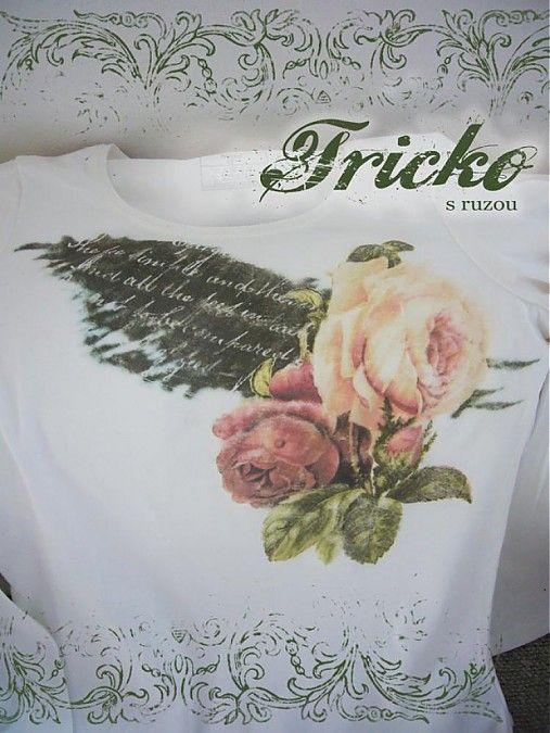 vYQt / Tričko s ružou...