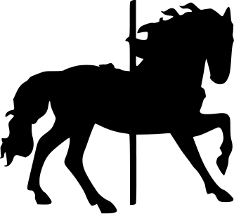 the lady wolf carousel horse silhouette crafts pinterest rh pinterest com Carousel Horse Logo carousel horse clipart