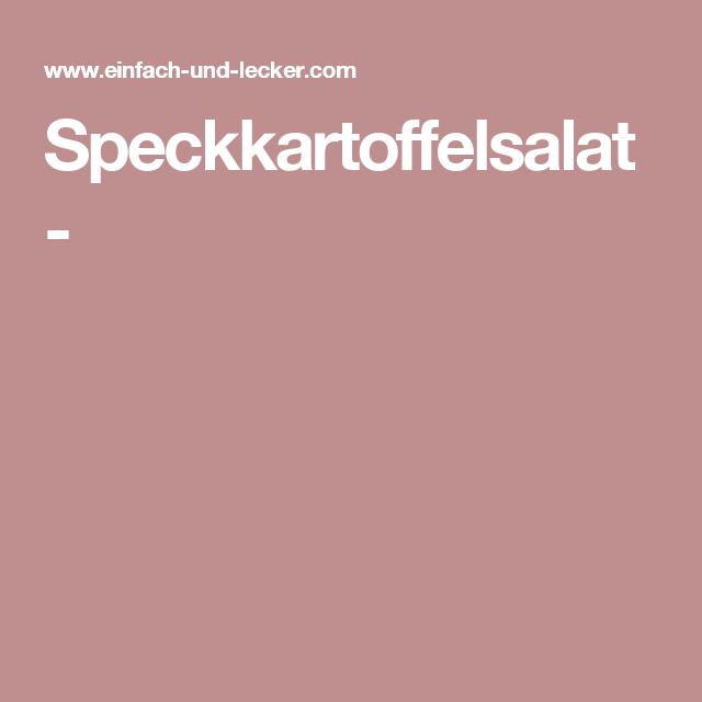 Speckkartoffelsalat -