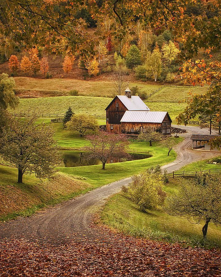 Beautiful places, Autumn beauty, Fall pictures, Country roads, Scenery, Beautiful fall - Sleepy Hollow Farm by Priscilla Burgers -  #Beautifulplaces