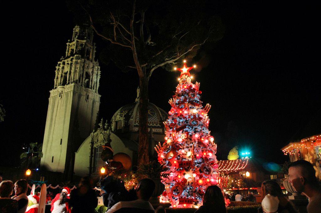 balboa park december nights christmas events in san diego - Balboa Park Christmas Lights