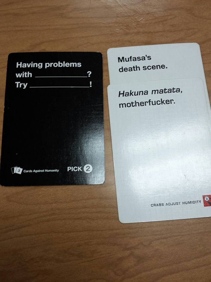 16 more of the most perfectly demented Cards Against Humanity - time card