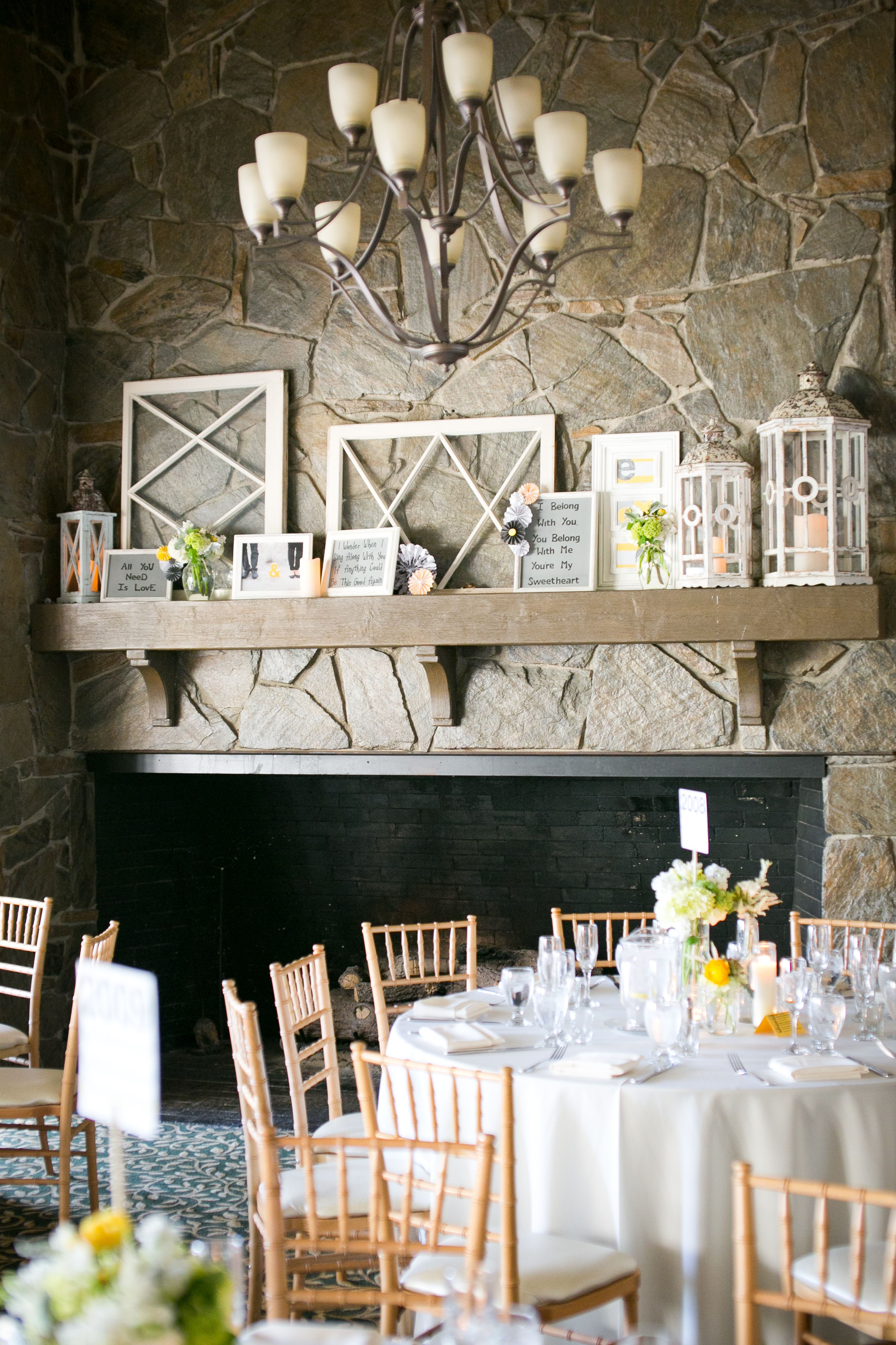 Customized Mantel with Frames