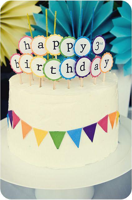 Banner Rainbow Cake