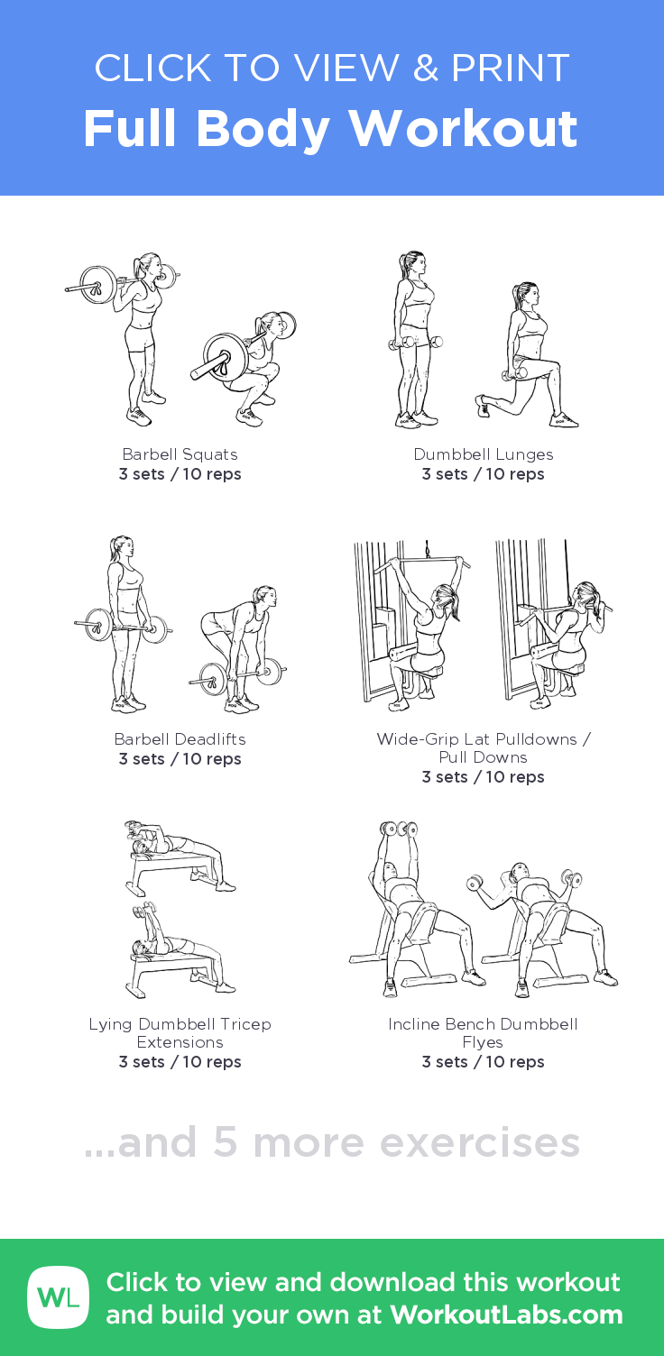 Full Body Workout Click To View And Print This Illustrated Exercise Plan Created With WorkoutLabsFit