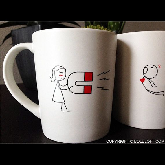 You're Irresistible™ His and Hers Coffee MugsMatching by BOLDLOFT