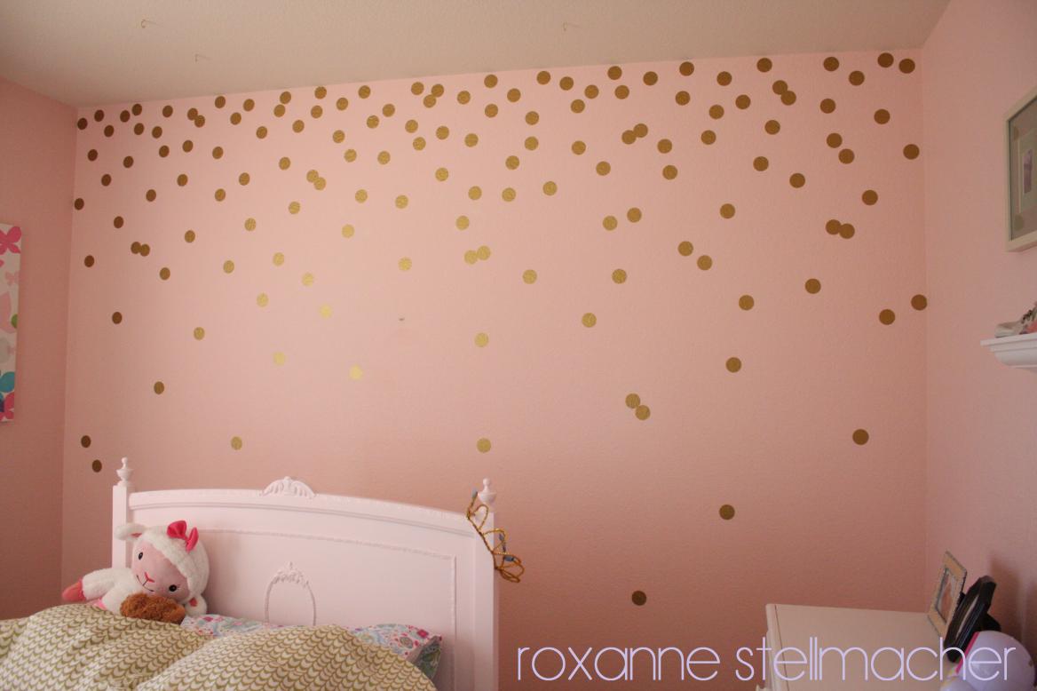 Diy Polka Dot Walls Girl Room Polka Dot Walls Girls Bedroom