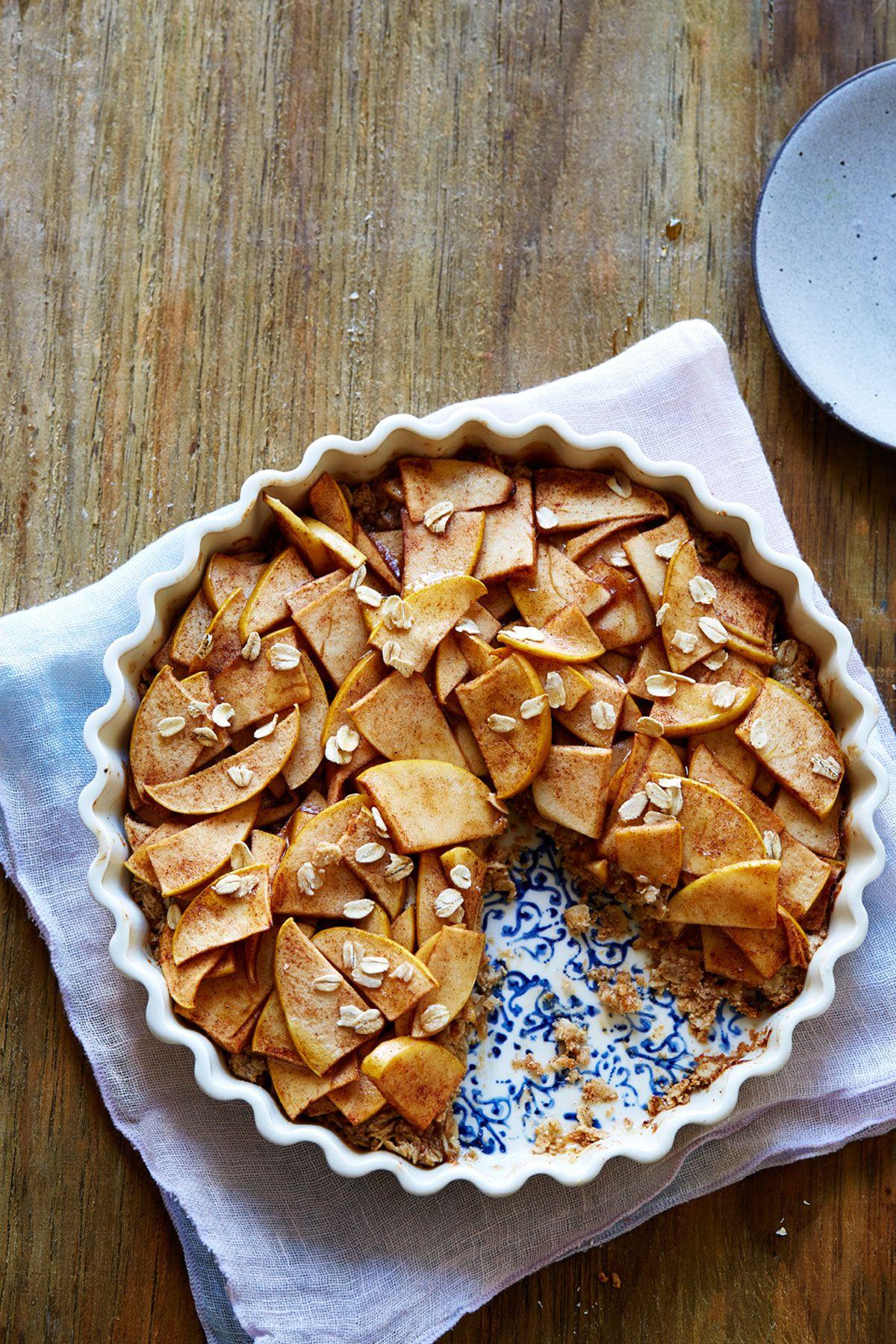 Healthy Apple Tart with Oat & Almond Crust
