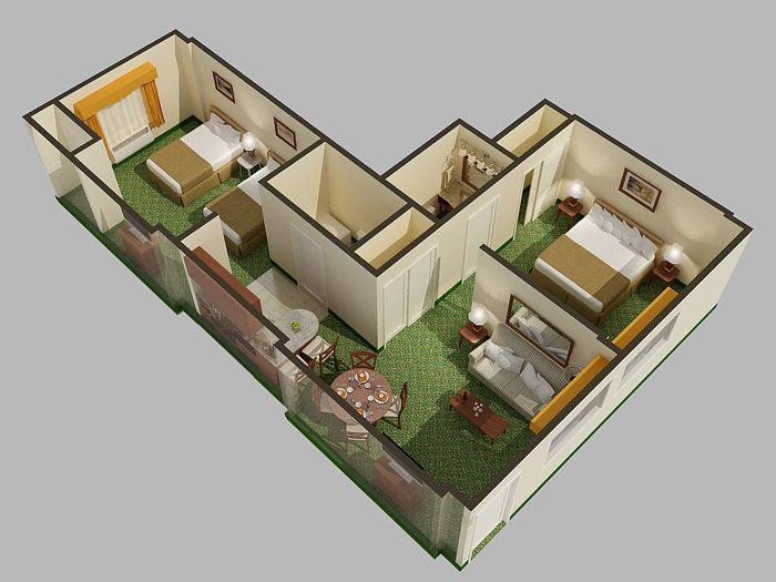 3d Cutaway Digital Floor Plan Genesis Studios Architectural Floor Plans Floor Plans Rendered Floor Plan
