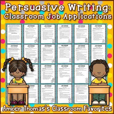 Persuasive Writing Classroom Job Applications - job applications