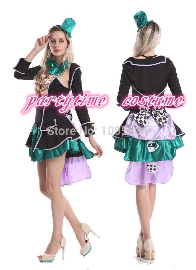 1676f6facb8f9 Ladies Mad Hatter Fancy Dress Up Tea Party Alice In Wonderland Hens ...