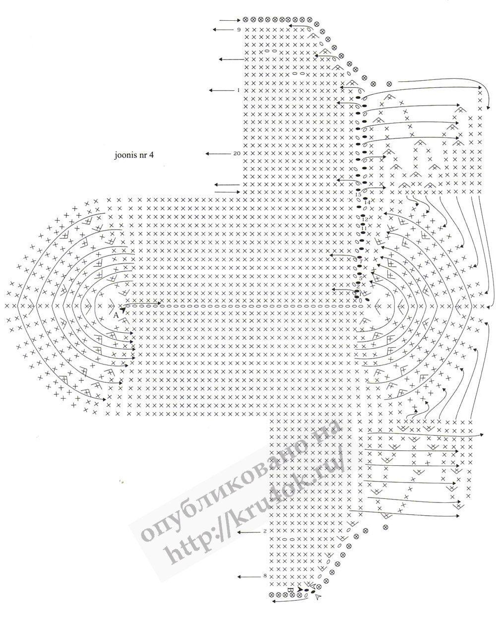 Простая схема пинеток крючком 156