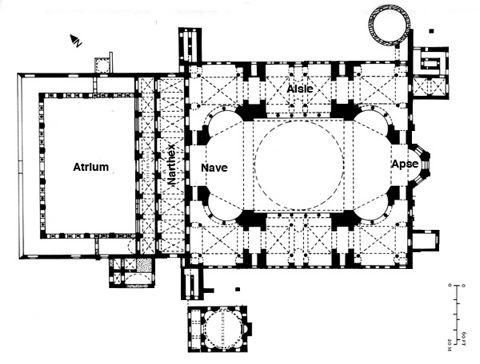Pin By Eek Hoorn On Plany Architektoniczne Hagia Sophia Floor Plans Image